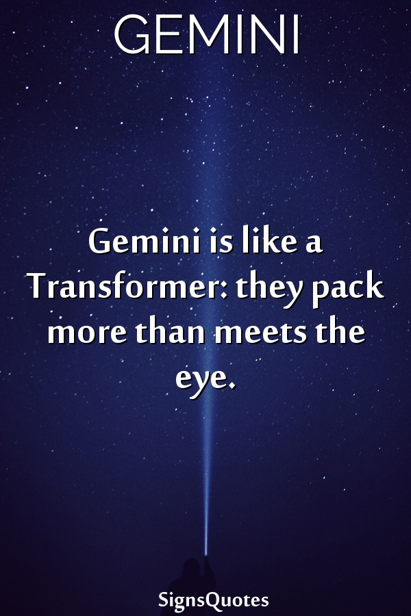 Gemini is like a Transformer: they pack more than meets the eye.